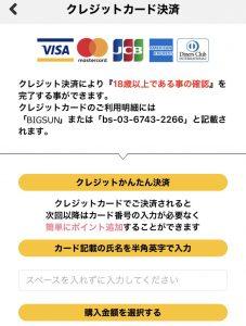 クレジットカードによる年齢確認